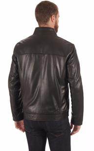 Blouson Cuir Noir Coupe Confort