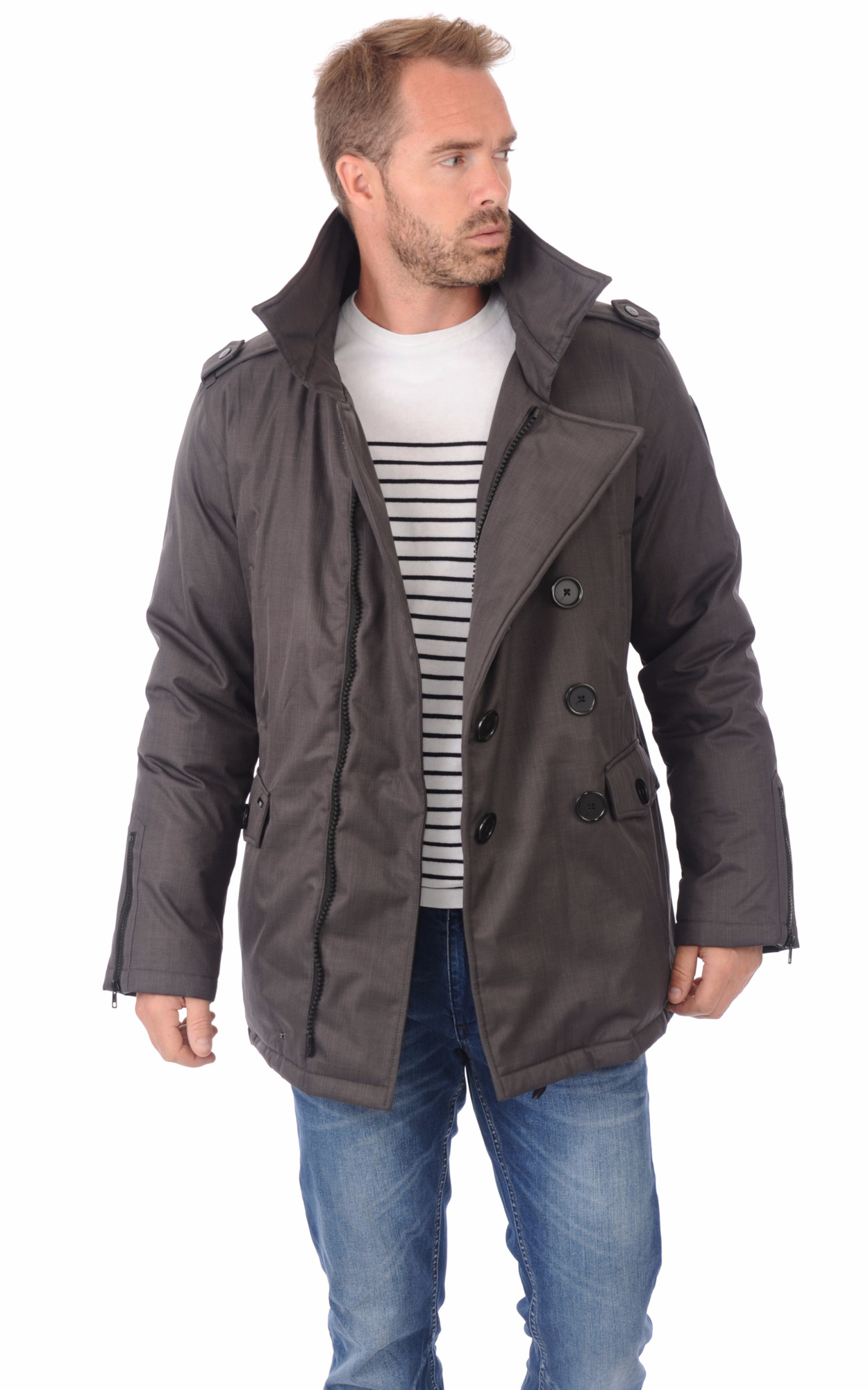 Parka Kato Steel Grey1
