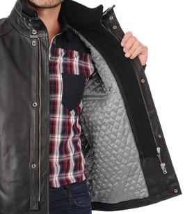 Veste cuir vachette chaude daytona la canadienne veste - Entretien cuir vachette ...