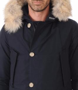 Parka Avec Fourrure Homme Artic Bleu Marine Woolrich