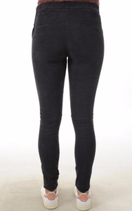 Pantalon Cuir Velours Stretch Bleu