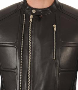 Blouson Cuir Noir Couture Serge Pariente