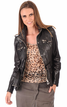 Veste Saharienne Betty Marron1