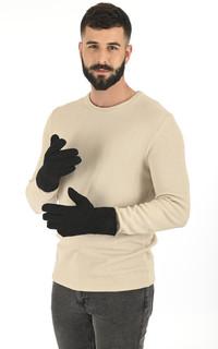 Gants chauds agneau velours noir