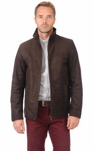 Blouson Long Nubuck Marron1