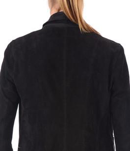 Veste Cuir Velours noir Oakwood