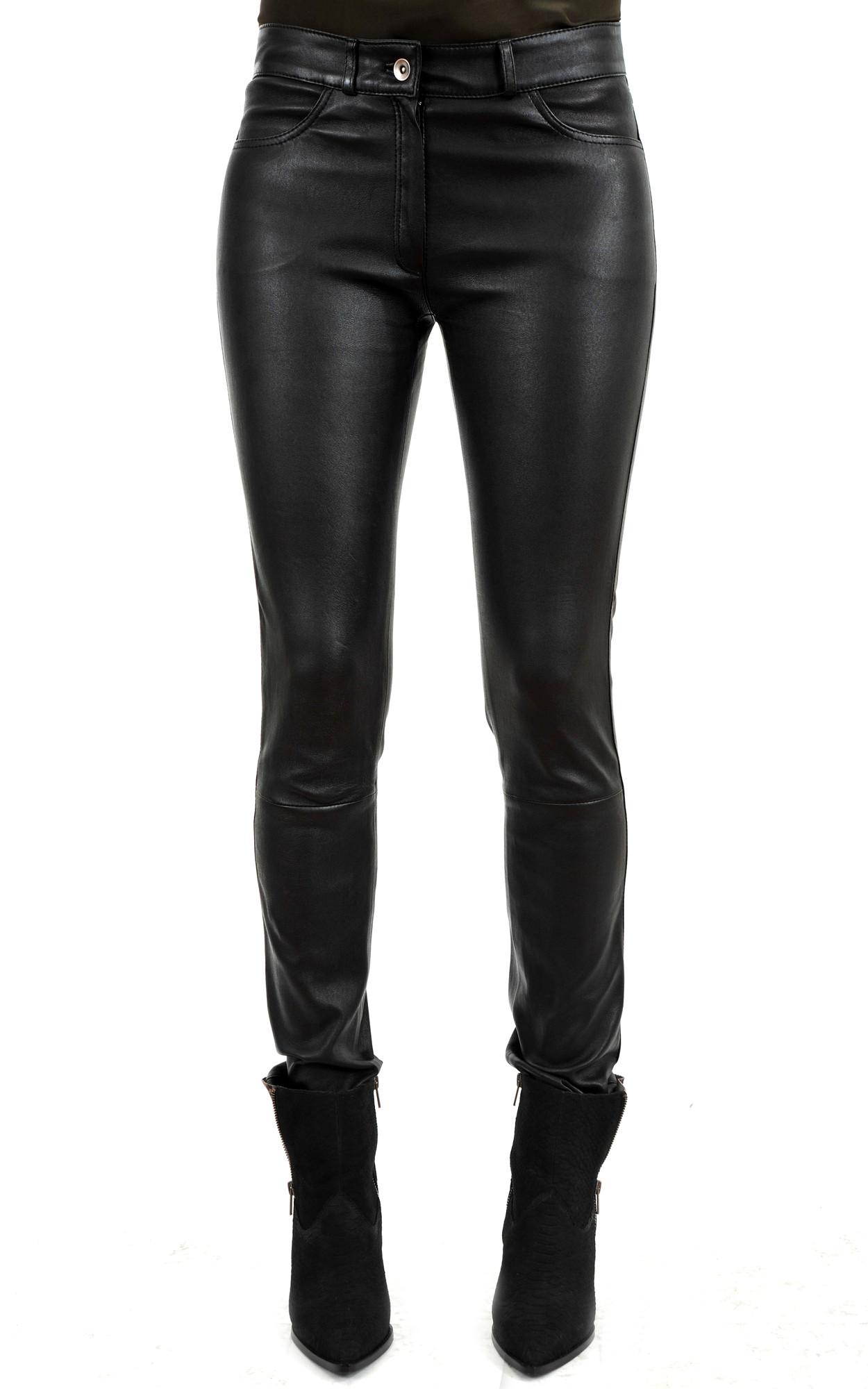 Pantalon Slim Cuir Stretch1
