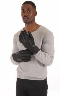 Gants Mouton Noir Homme