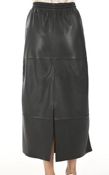 Jupe longue cuir noir