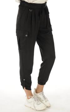 Pantalon en tencel noir