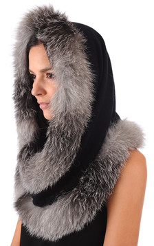Snood Renard Naturel Bluefrost1