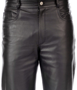Pantalon cuir marron homme coupe 501