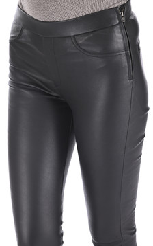 Legging cuir stretch noir