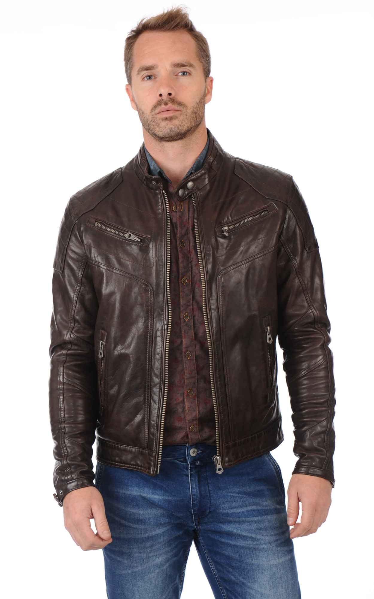Blouson Ronald Marron
