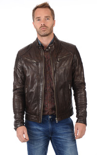 Blouson Motard Ronald Marron