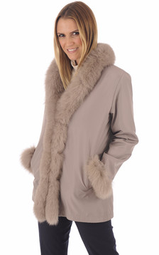 Pelisse réversible renard beige1