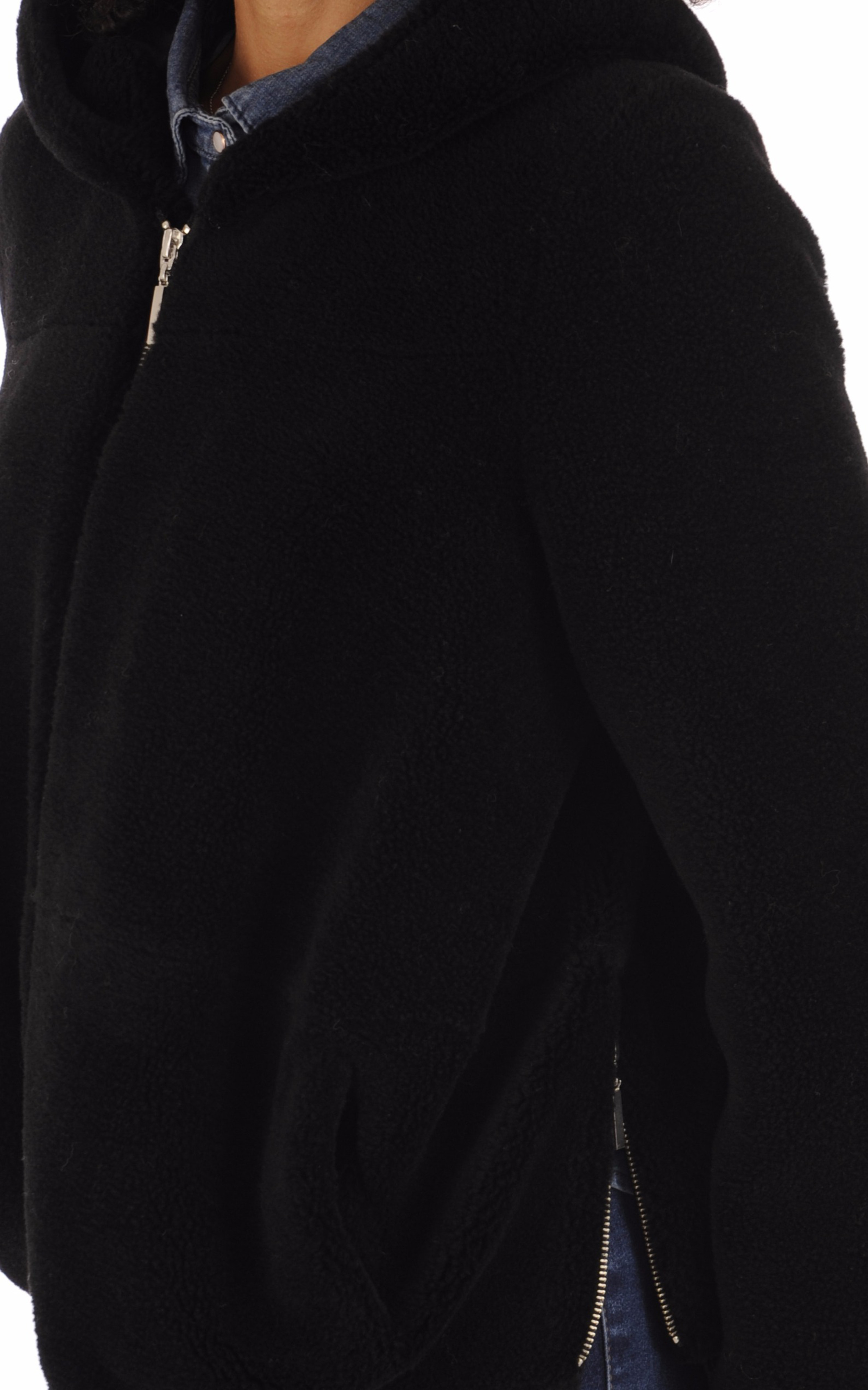 Veste en laine à capuche noir La Canadienne