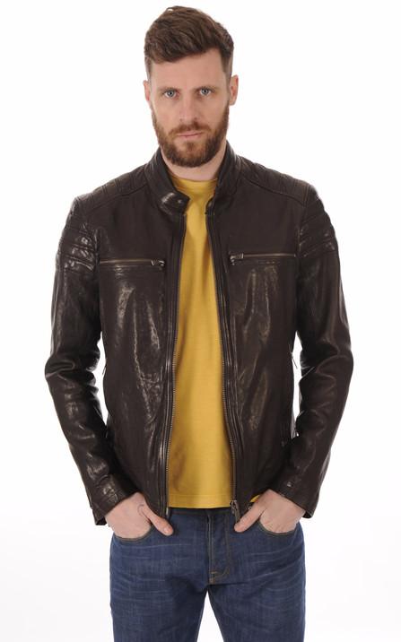 Blouson et veste cuir homme Schott Redskins Serge Pariente Oakwood ... e379700a40a