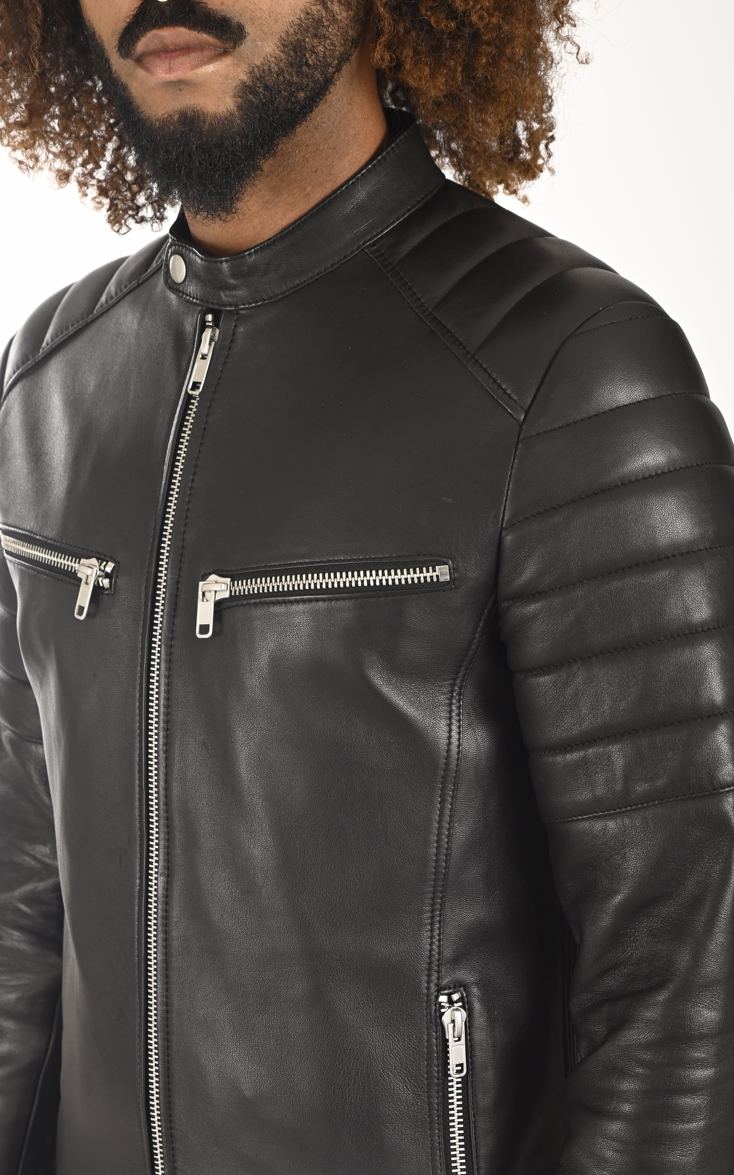 Blouson Warrior noir Serge Pariente