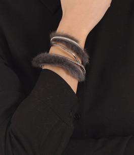 Bracelet Fourrure Vison Taupe Tsanikidis