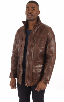 Veste confortable marron vieilli