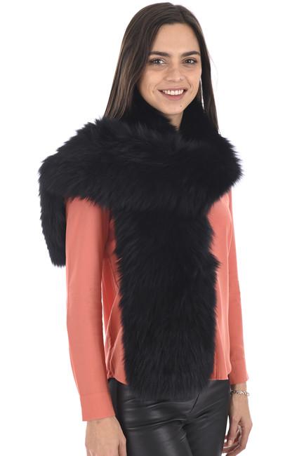 Echarpe longue renard noire La Canadienne