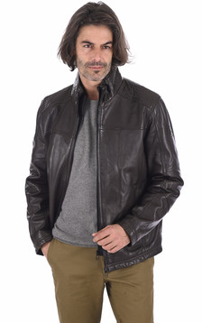 Blouson confortable agneau marron