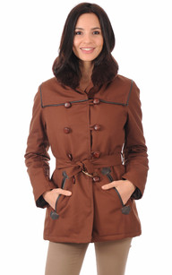 Authentique Canadienne Marron Femme1