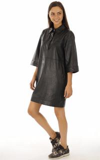 Robe en cuir Rapsody noire