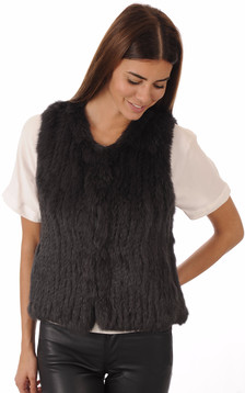 Gilet Lapin Anthracite1