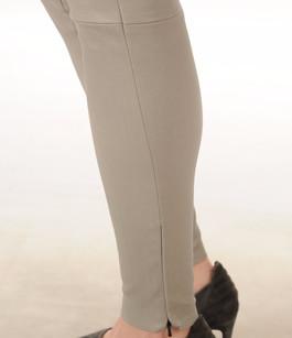Legging Cuir Stretch Gris Minéral Mackage