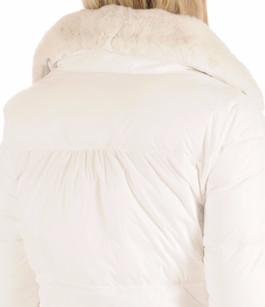 Doudoune blanche  Femme à col Fourrure Oakwood