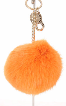 Porte-clé lapin orange1