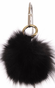 Porte Clef Fourrure de Renard Noire
