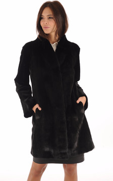 Manteau Chic Vison Noir1
