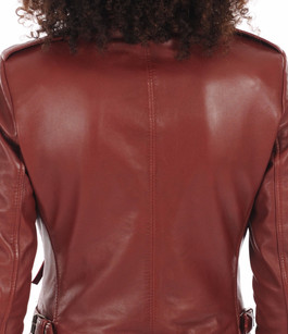 Blouson CITY GIRL rouge Serge Pariente
