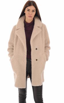 Manteau laine beige femme1