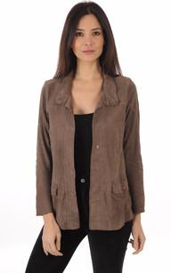 Veste en cuir velours femme