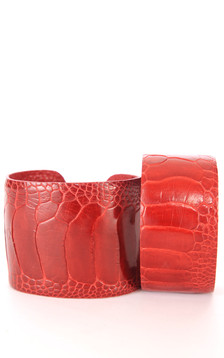 Bracelet Autruche Rouge