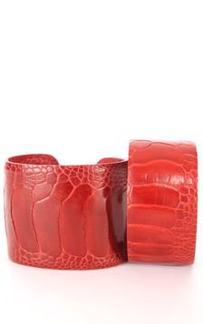 Bracelet Autruche Rouge