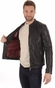 Blouson Cuir Perforé Smith