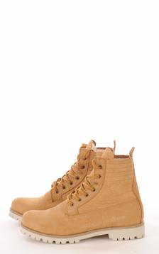Boots Cuir & Mouton Camel
