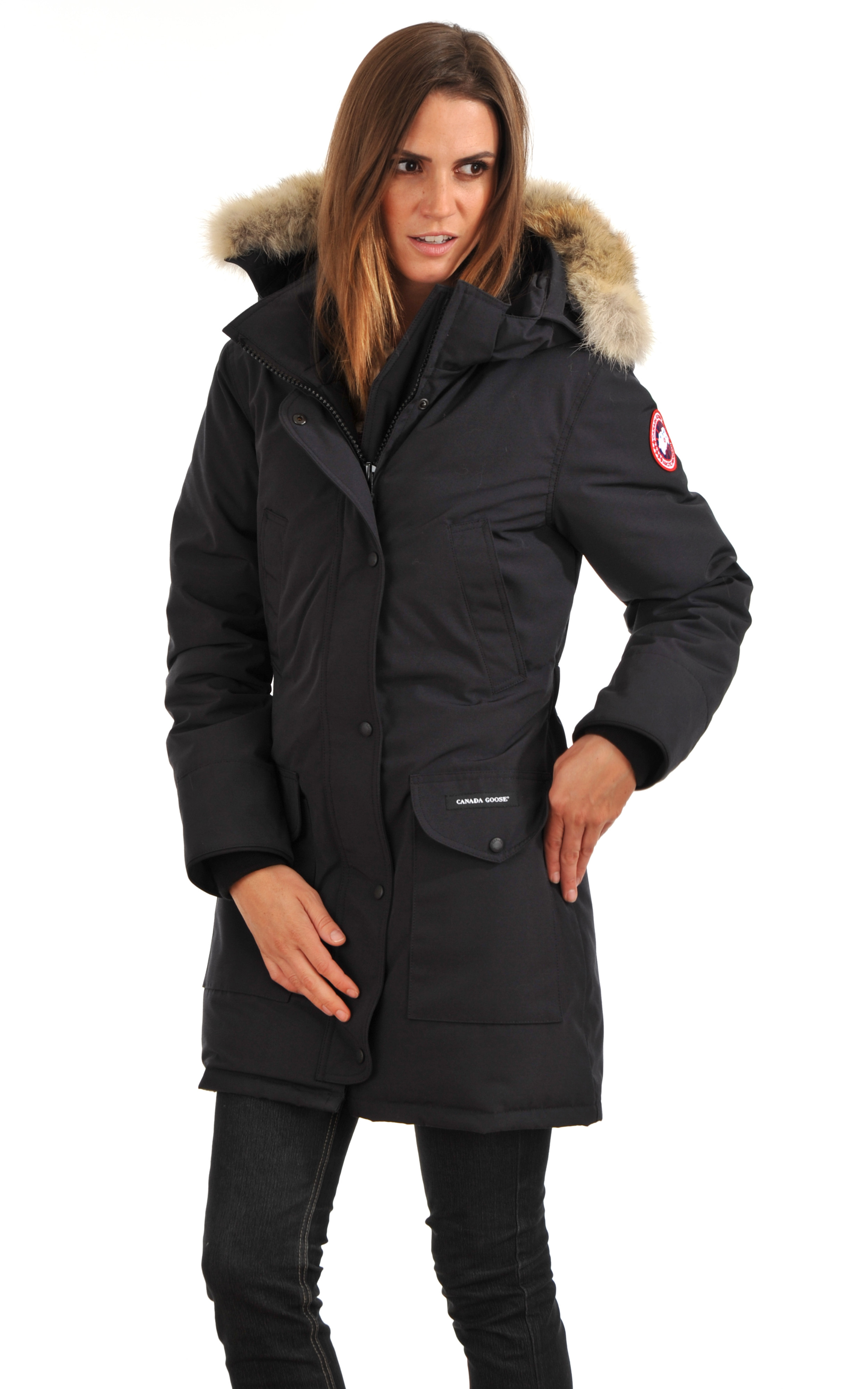 parka trillium navy canada goose la canadienne doudoune parka textile navy. Black Bedroom Furniture Sets. Home Design Ideas