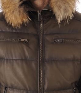 Doudoune Cuir pour Homme Kaki La Canadienne