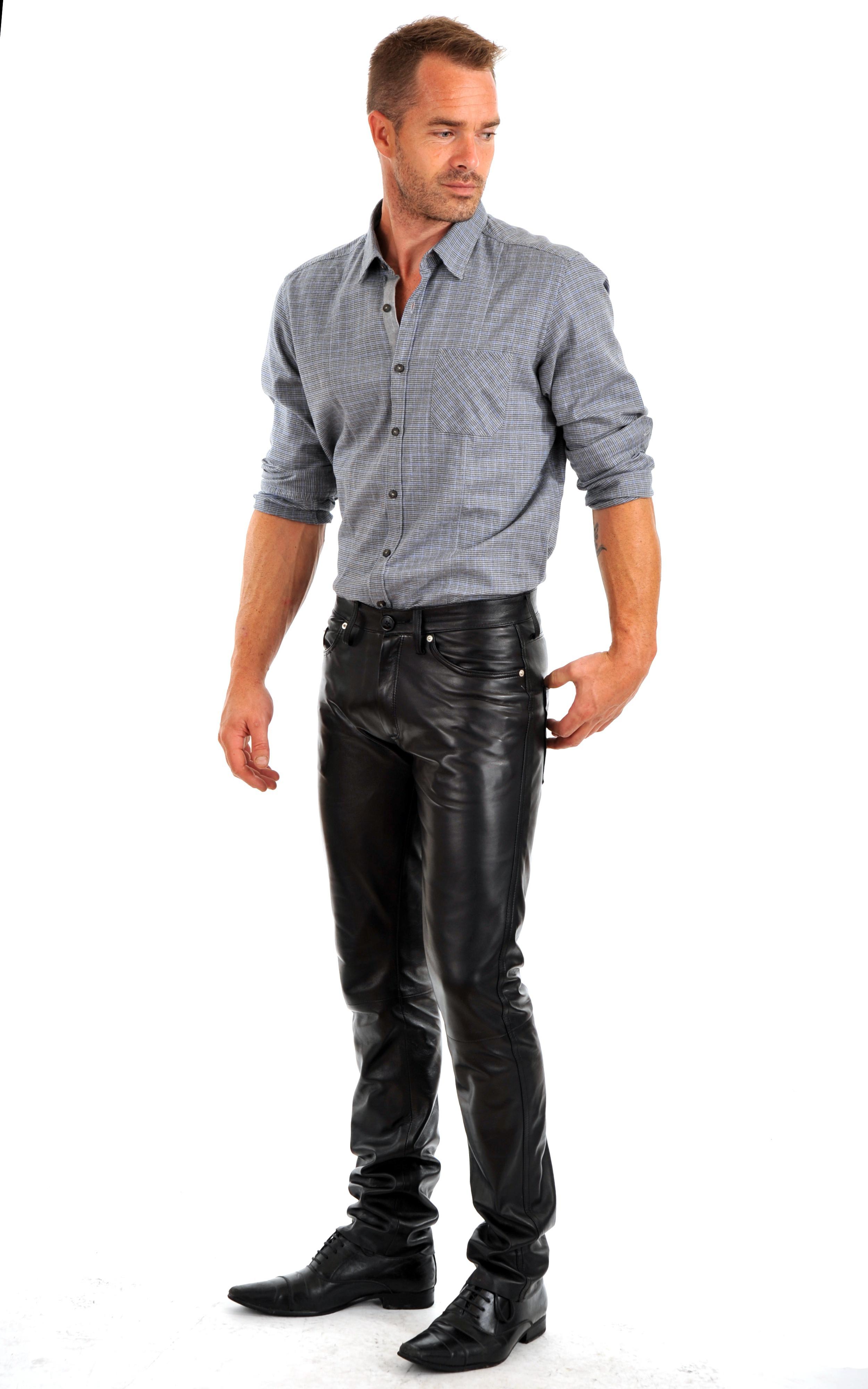 pantalon cuir homme la canadienne la canadienne. Black Bedroom Furniture Sets. Home Design Ideas