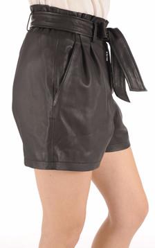 Short Cuir Femme noir