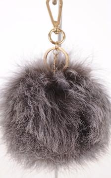 Porte-clé renard gris1