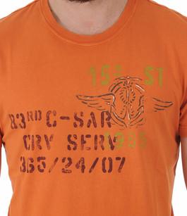 T-shirt Imprimé Aero Orange Aeronautica Militare