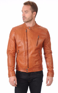 Blouson Motard Orange1