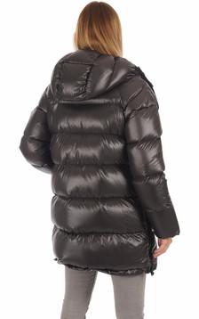 Doudoune à capuche Femme Noire